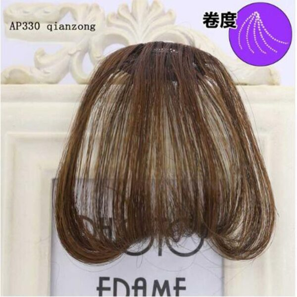 Liangmo Women S Bangs Synthetic Hair Short Hair Clips Natural Black Solid Color Augusta Country